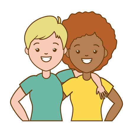 happy women vector illustration Ilustração