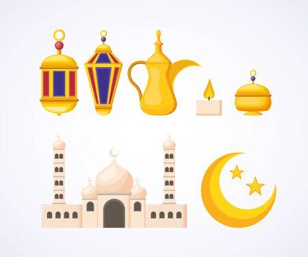 taj mahal lantern symbol ramadan kareem celebration