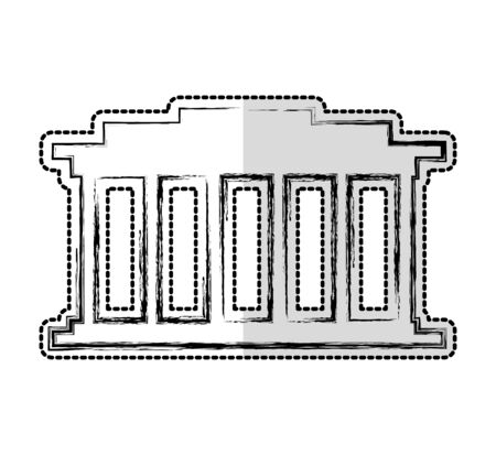 court building isolated icon vector illustration design  イラスト・ベクター素材
