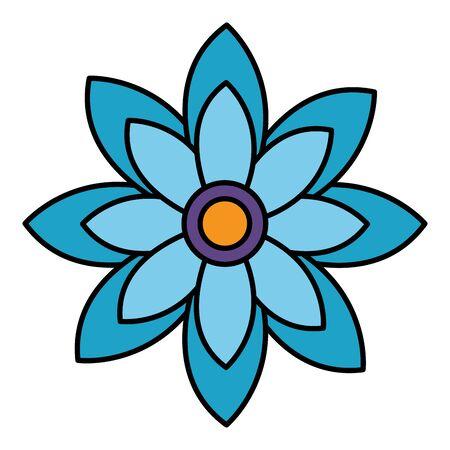 flower leaves nature on white background vector illustration design Stock Illustratie