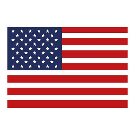 united states of america flag vector illustration design Ilustrace