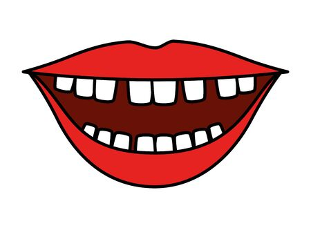 mouth with comics teeth vector illustration design Ilustrace