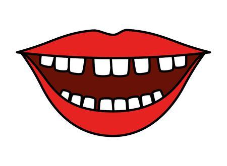 mouth with comics teeth vector illustration design Illusztráció