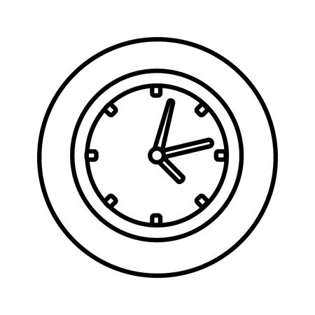 time clock isolated icon vector illustration design Stock Illustratie