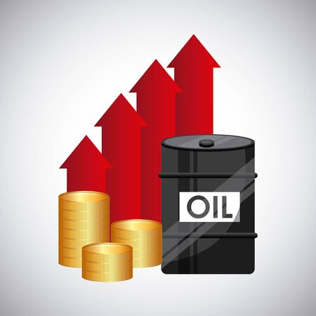 oil prices design, vector illustration graphic