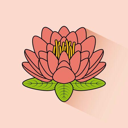 lotus flower  design, vector illustration graphic Stock Vector - 129461450