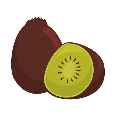 kiwi pictogram grafisch ontwerp vectorillustratie
