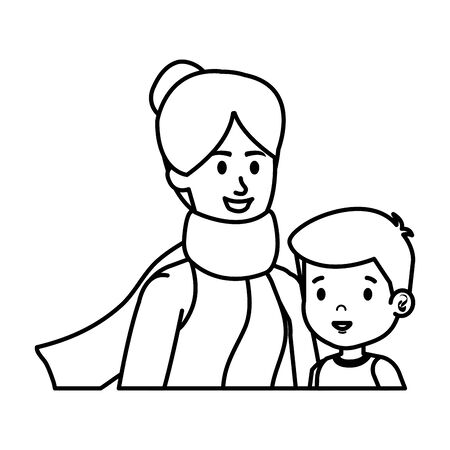 young mother with little son characters vector illustration design Фото со стока - 129482906