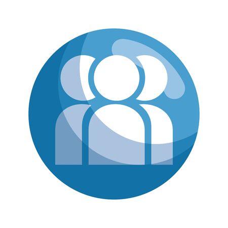 profiles teamwork isolated icon vector illustration design