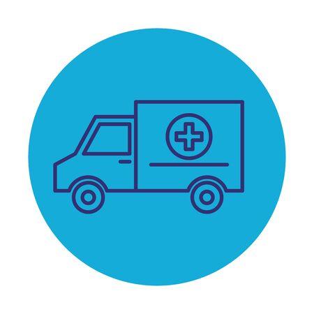 ambulance medical service icon vector illustration design