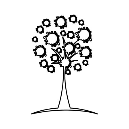 tree plant silhouette isolated icon vector illustration design Banque d'images - 129474151