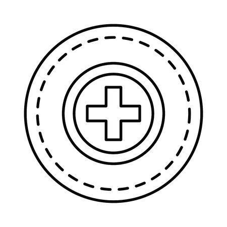 pluss symbol isolated icon vector illustration design