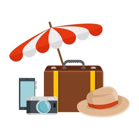 travel tourism set icons vector illustration design