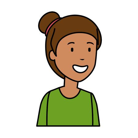 young black woman character vector illustration design