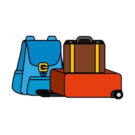 travelbag and suitcase icons vector illustration design
