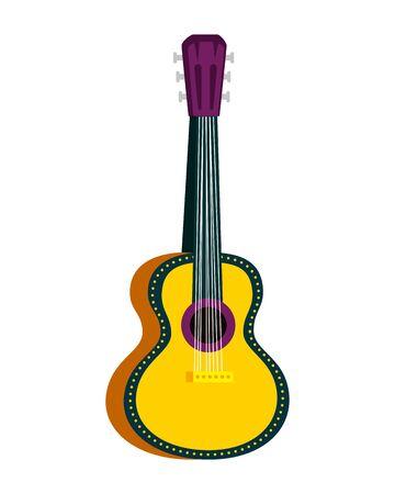 acoustic guitar instrument icon vector illustration design Ilustração