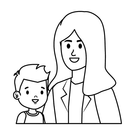 young mother with little son characters vector illustration design Фото со стока - 129483481