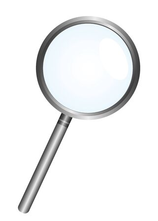 magnifying glass isolated over white background. vector