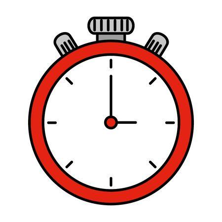 Diseño de ilustración de vector de icono de temporizador de cronómetro aislado