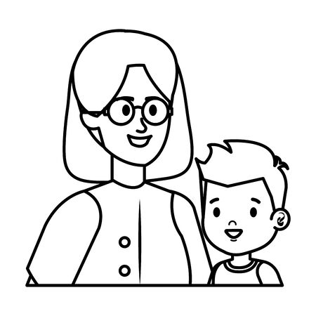young mother with little son characters vector illustration design Фото со стока - 129483685