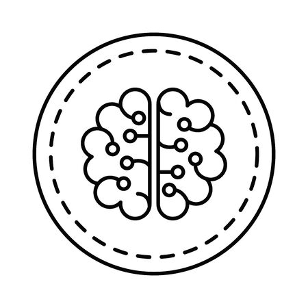brain human organ icon vector illustration design Stok Fotoğraf - 129483894