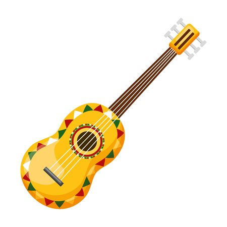 illustrazione vettoriale di chitarra messico cinco de mayo Vettoriali