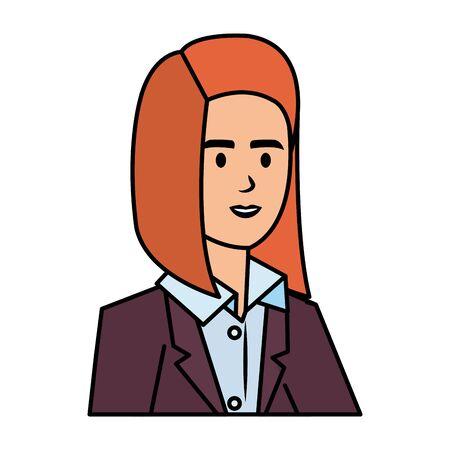 elegant businesswoman avatar character vector illustration design Ilustração