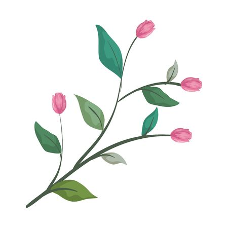rose with leafs icon vector illustration design Banque d'images - 129484280