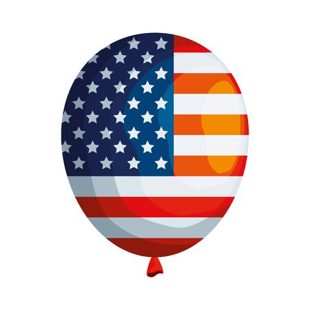balloon helium with united states of america flag vector illustration design