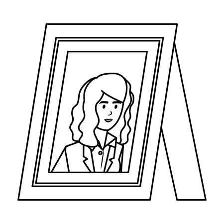 portrait with elegant businesswoman vector illustration design Ilustração