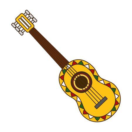 guitarra mexico cinco de mayo vector illustration
