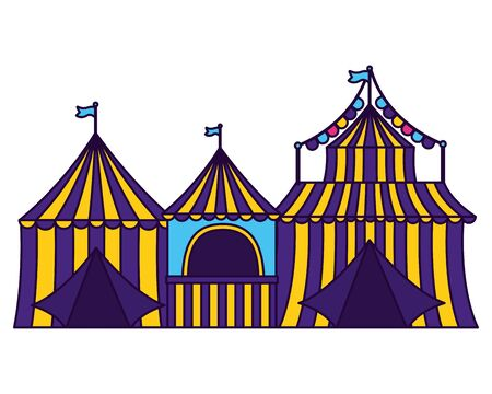 carnival tent booth circus vector illustration design Illustration