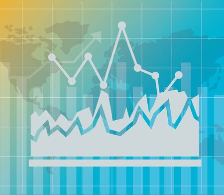 chart world financial stock market vector illustration vector illustration Illusztráció