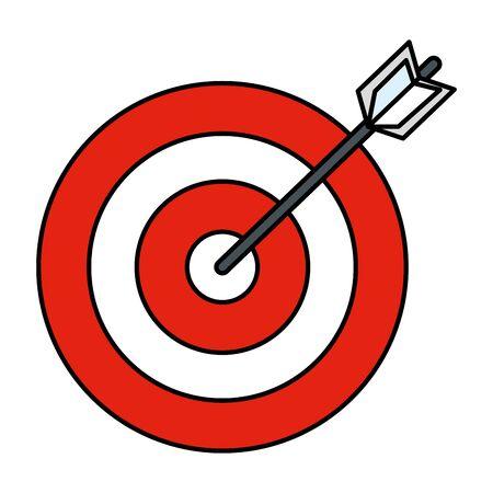 target arrow isolated icon vector illustration design  イラスト・ベクター素材