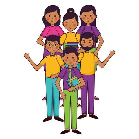 teachers students teachers day design vector illustration Illustration