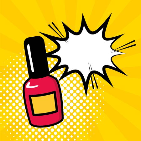 Vernis à ongles bulle pop art design vector illustration