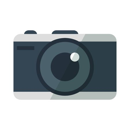 Camera design, Device gadget technology photography equipment digital and photo theme Vector illustration Standard-Bild - 129484464