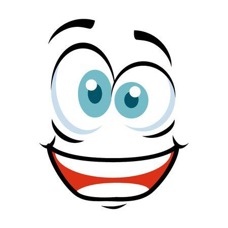 crazy face emoticon icon vector illustration design Stock Illustratie