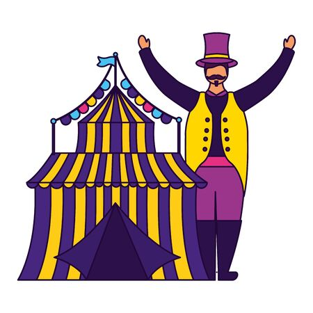 character circus carnival tent entertainment vector illustration design 스톡 콘텐츠 - 129483857
