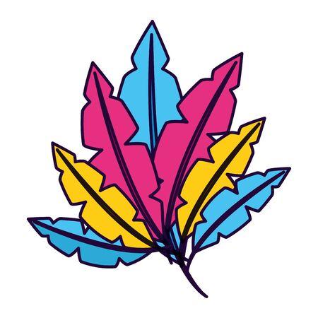 colored feathers decoration ornament vector illustration design Foto de archivo - 129483789