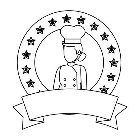 young female chef avatar character vector illustration design Stock Illustratie
