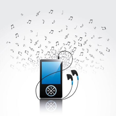 mp3 music player design, vector illustration  graphic Ilustrace