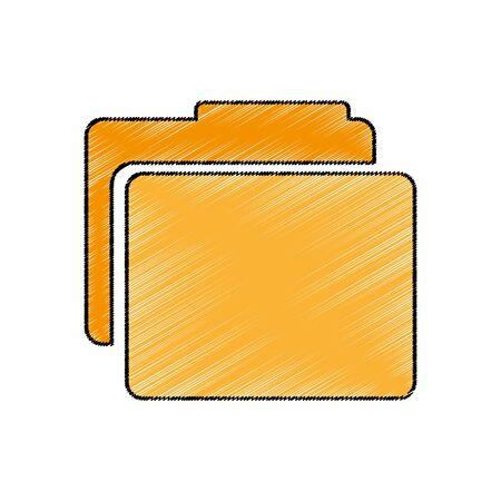 folder documents isolated icon vector illustration design Imagens - 129482661