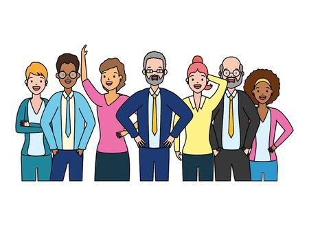 people group characters diversity on white background vector illustration 일러스트