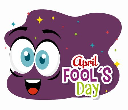 face expression to fools day celebration vector illustration
