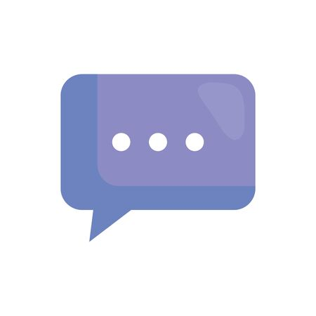 speech bubble message isolated icon vector illustration design Stock Illustratie
