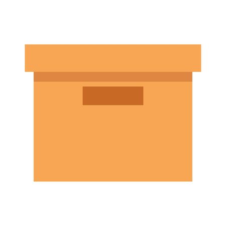 office carton box isolated icon vector illustration design