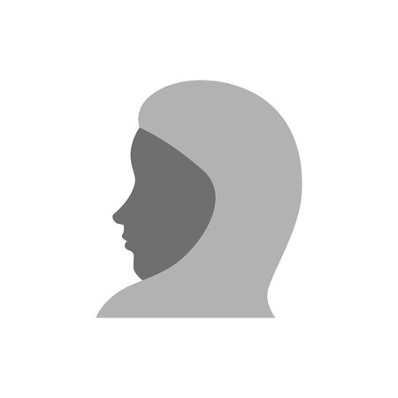 profile of islamic woman with traditional burka vector illustration design Stock Illustratie