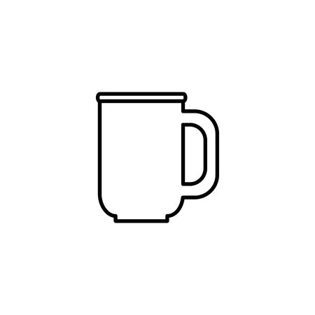 coffee mug beverage isolated icon vector illustration design Banque d'images - 129490978