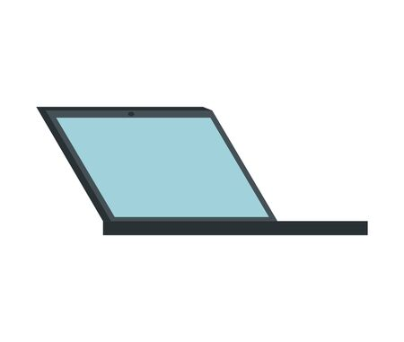 laptop computer device isolated icon vector illustration design Banque d'images - 129490992